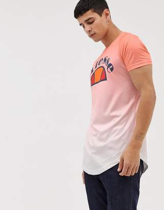 Ellesse Ombre T-Shirt In Pink
