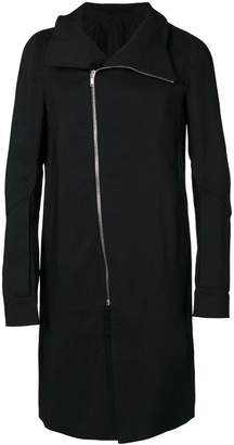 Rick Owens off-centre zipped coat
