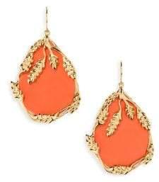 Aurelie Bidermann Francoise Coral Drop Earrings