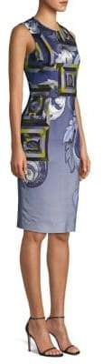 Versace Printed Sheath Dress