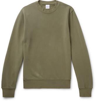 Aspesi Garment-Dyed Loopback Cotton-Jersey Sweatshirt - Army green