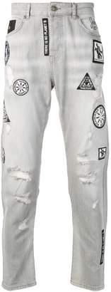 John Richmond patchwork jeans