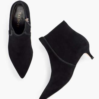Talbots Iona Binding Kitten-Heel Ankle Boots - Suede