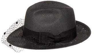 Black Trilby Sun Hat with Veil