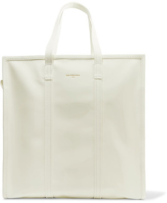 Bazar Large Patent-leather Tote - White