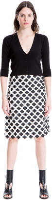 Max Studio floral jacquard skirt