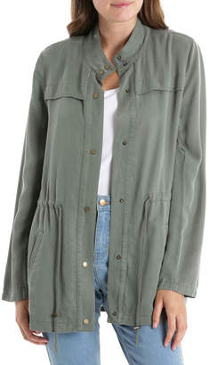 Miss Shop Unlined Jacket With Roll Sleeve-Khaki