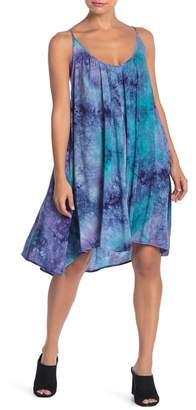 Love Stitch Tie-Dye Spaghetti Strap Dress