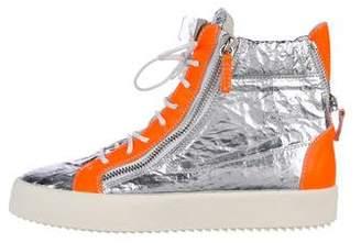 Giuseppe Zanotti Foil High-Top Sneakers