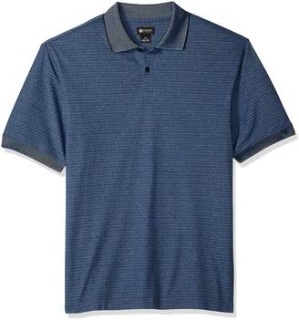 Haggar Men's Short Sleeve Mini Box Polo Shirt