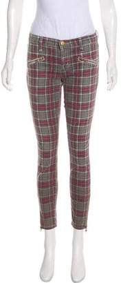 Current/Elliott Mid-Rise Plaid Pants