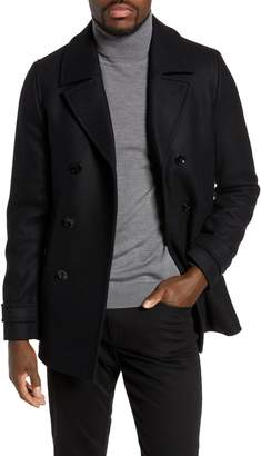 Ted Baker Grilled Wool Blend Peacoat