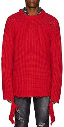 R 13 Men's Distressed Cashmere Fisherman Sweater