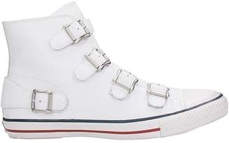 Ash Vincent White Leather Sneakers