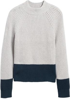 Banana Republic Petite Chunky Color-Block Sweater