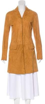 Dolce & Gabbana Notch-Lapel Suede Coat