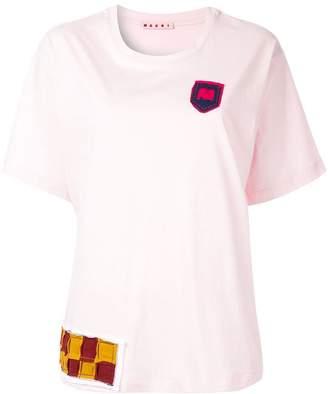 Marni round neck patch T-shirt
