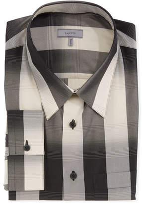 Lanvin Men's Degrade Check Dress Shirt