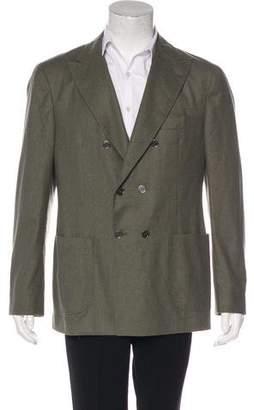 Brunello Cucinelli Double-Breasted Wool-Blend Sport Coat