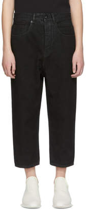 Rick Owens Black Collapse Jeans