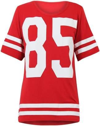 VIP Womens Oversize 85 Football Style Jersey T-shirt (Sty) (4/6 (uk 8/10), )
