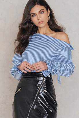 Shein Fold Over Top Blue