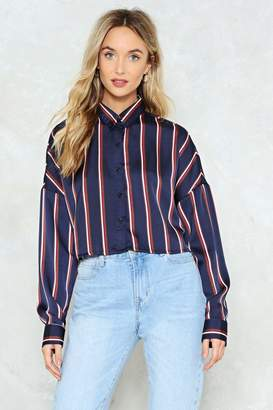 Nasty Gal Set the Record Straight Boxy Shirt