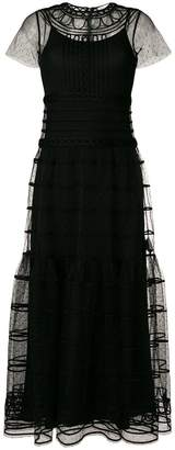 RED Valentino tiered tulle maxi dress