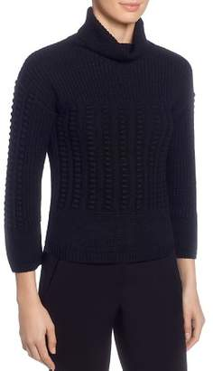 T Tahari Mixed-Knit Turtleneck Sweater