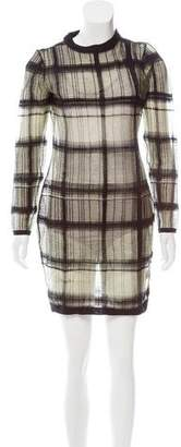 Alexander Wang Checker Pattern Mesh Dress w/ Tags
