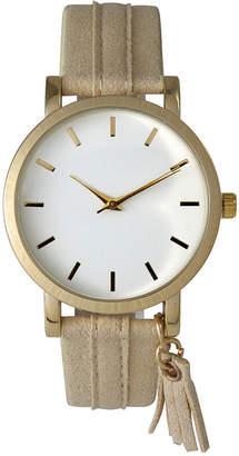 OLIVIA PRATT Olivia Pratt Tassle Charm Womens Brown Strap Watch-15984