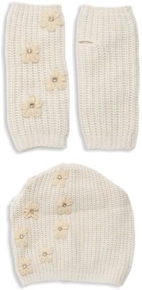 Portolano 2-Piece Embellished Beanie & Gloves Set