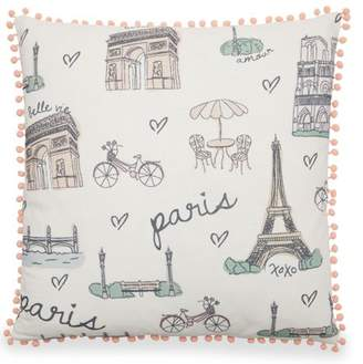 "Paris Decorative Throw Pillow, 20x20"" by Drew Barrymore Flower Home"