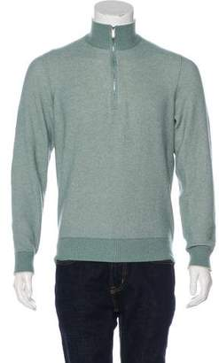 Loro Piana Cashmere & Silk Zip Sweater