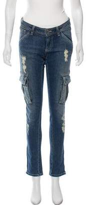 Alice + Olivia Low-Rise Skinny Jeans