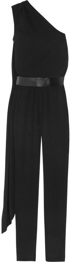 Halston Stretch-crepe jumpsuit