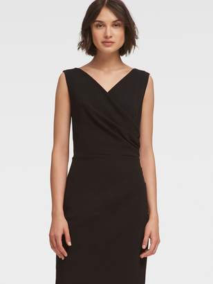 DKNY Ruched Sheath Dress With Pleated Skirt