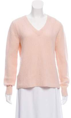 Veda Leather-Trimmed Cashmere Sweater