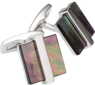 HUGO BOSS T-Clive Square Mother Of Pearl Cufflink