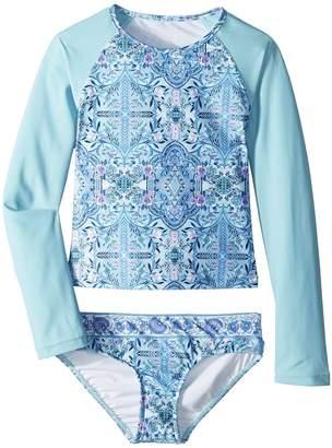 Seafolly Gypsy Dream Long Sleeve Surf Set Girl's Swimwear Sets