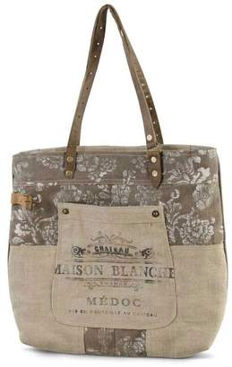 K&K Interiors Weathered Canvas Bag