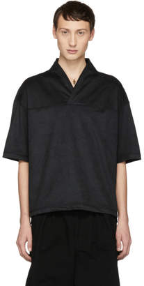 SASQUATCHfabrix. Black Faux-Suede Wa-Neck T-Shirt