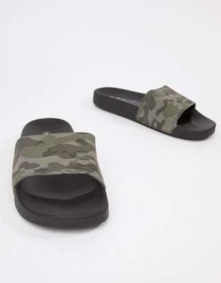 Brave Soul Camo Slider Flip Flops