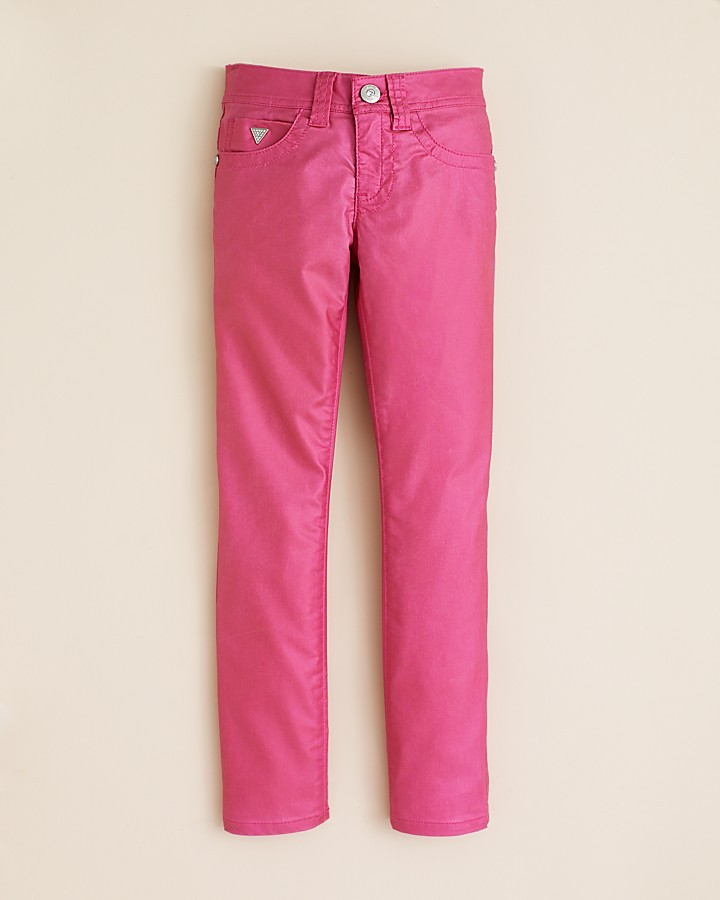 GUESS Girls' Coated Stretch Jeans - Sizes 7-16