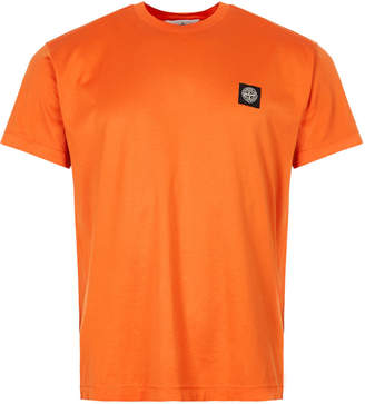 Stone Island T-Shirt Patch Logo - Orange