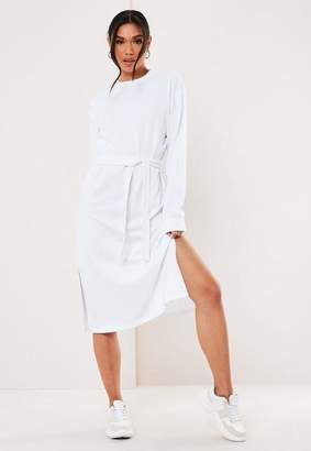 Missguided White Midi Sweater Dress