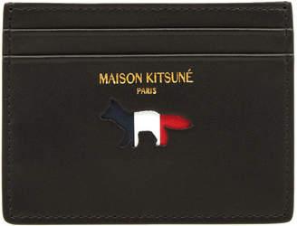 MAISON KITSUNÉ Tricolour Leather Card Holder
