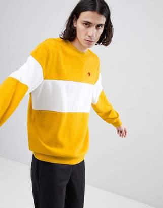 Converse Cons Crew Neck Sweatshirt In Yellow 10005686-A02