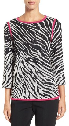 Women's Ming Wang Zebra Knit Tunic $275 thestylecure.com