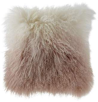 "Michael Aram Dip Dye Curly Sheepskin Pillow, 18""Sq."